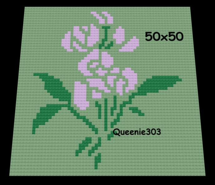 April Sweet Pea 60x60