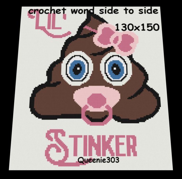 Baby Girl Lil Stinker Emoji 130x150