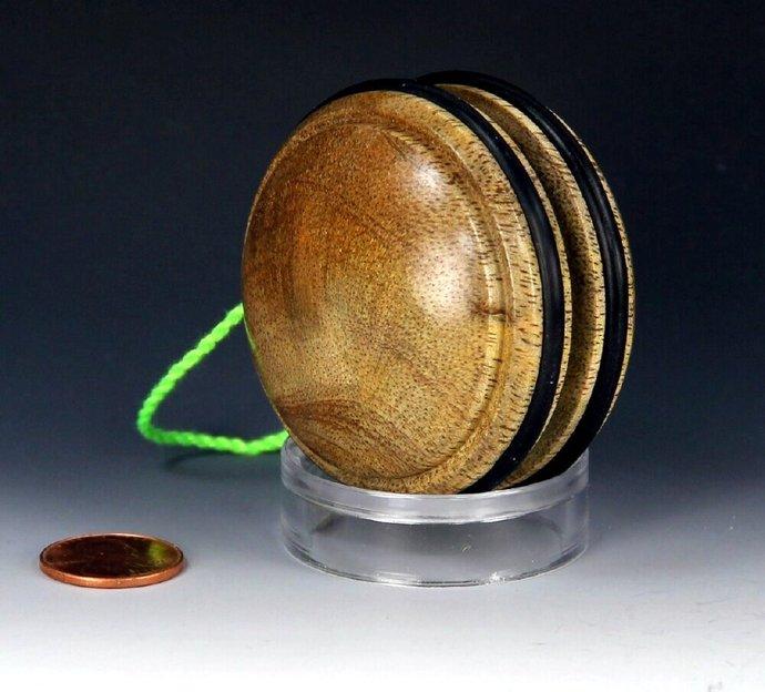 Handmade Toy YoYo, Fixed Axle Imperial Shape, Australian Mango