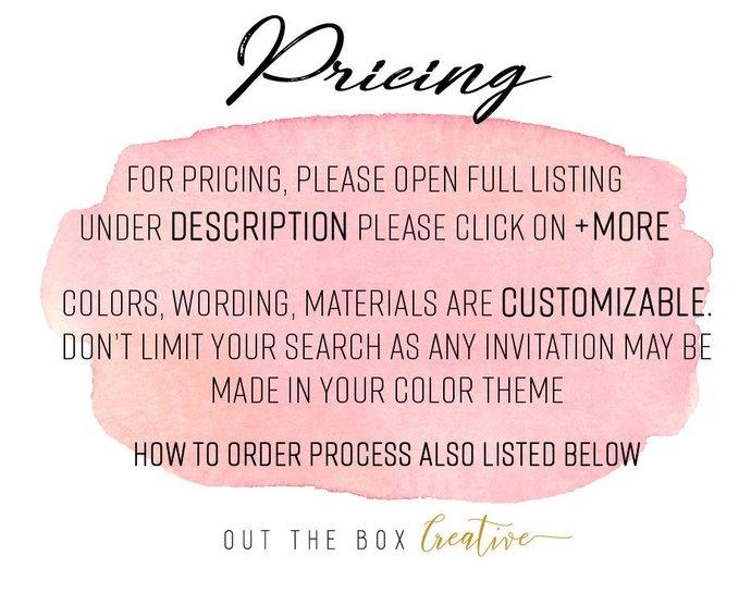 Green and ivory Lace Laser Cut Wedding Invitation, Laser Cut Invitation,