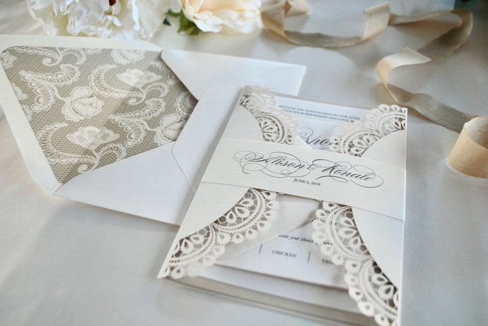 Ivory Champagne Laser Cut Wedding By Out The Box Creative On Zibbet