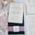 Navy Blue dusty rose Wedding Invitation Laser cut Pocket, pocket wedding invite,