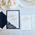 Navy, Blush, Gold Wedding Invitation Lace Laser Cut Simply Glamorous, Silver,
