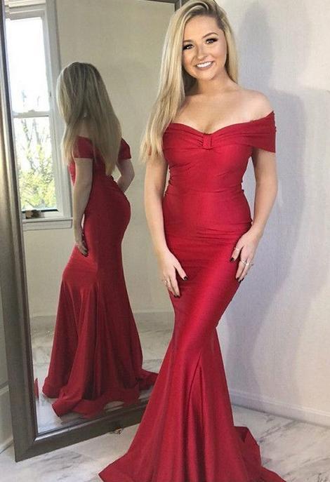12302ae1028 Mermaid Long Prom Dress Fashion Winter Formal Dress Popular Wedding Party  Dress