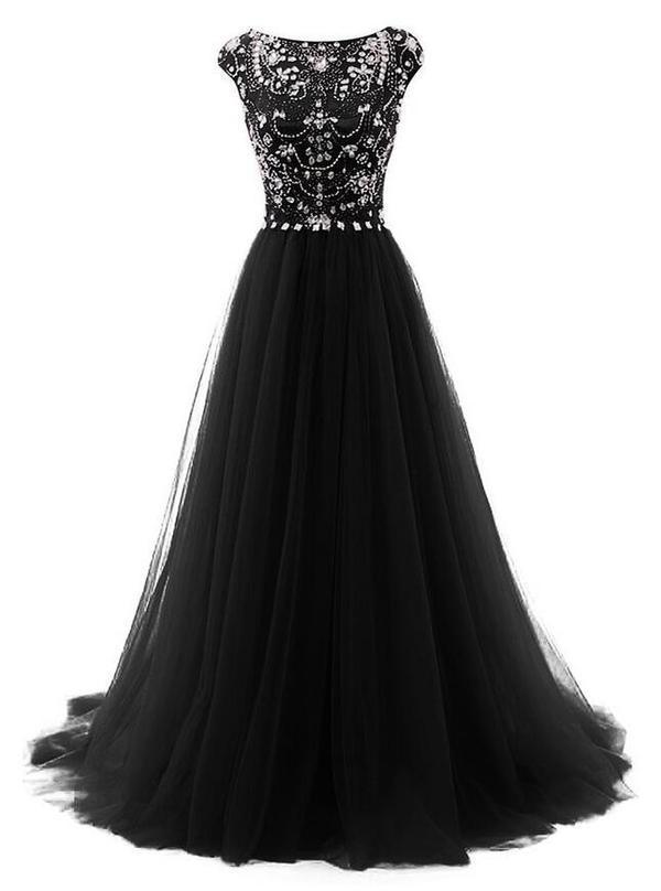 Beaded Long Prom Dress