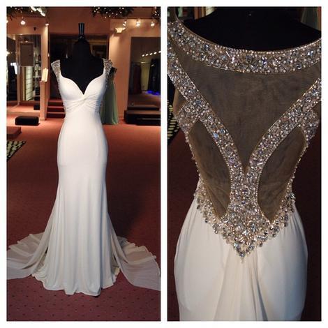 Long Beads Prom Dresses Formal Dress