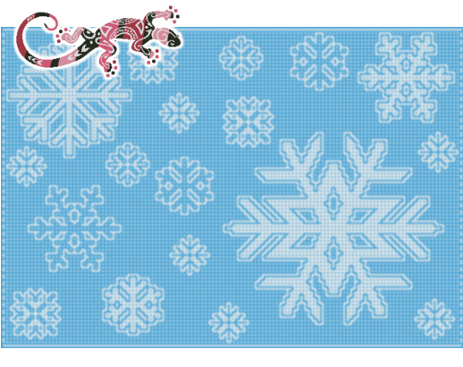 Snowflake Medley Afghan Pattern Stadium Throw in Locking Filet Crochet