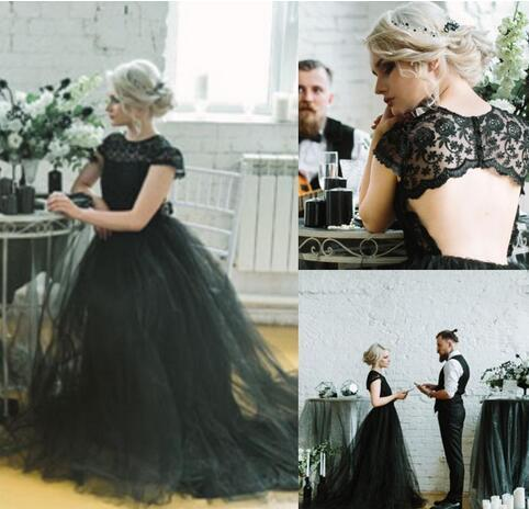 06e1b9276980 Gothic Black Beach Boho Wedding Dresses A By Miss Zhu Bridal On Zibbet