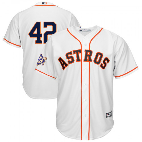 Men s Houston Astros Jackie Robinson Jersey 2018 Cool Base White aad9152abc7