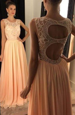 Popular Beaded Prom Dress, Long Formal Dress