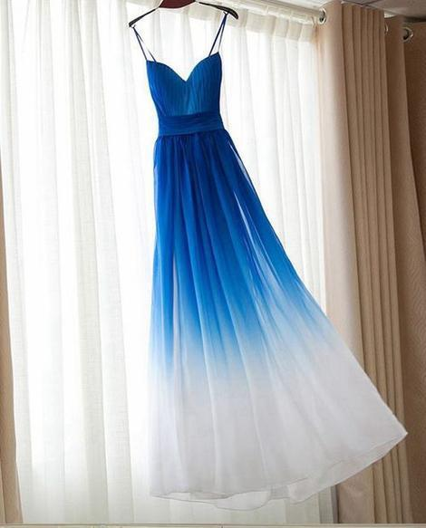 Simple Chiffon Long Prom Dress , Long Winter Formal Dress