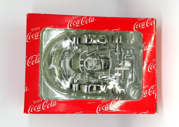 Coca Cola Go-Kart Silver Diecast Metal Racing Car - Coke Toy - New In Box
