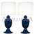 Murano glass blue table lamps