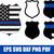 Police badge svg, thin blue line svg, police wife svg, police svg, blue line