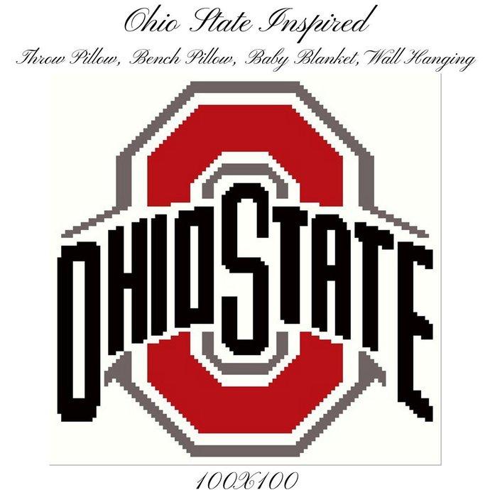 Ohio State Crochet Graph Pattern 100x100