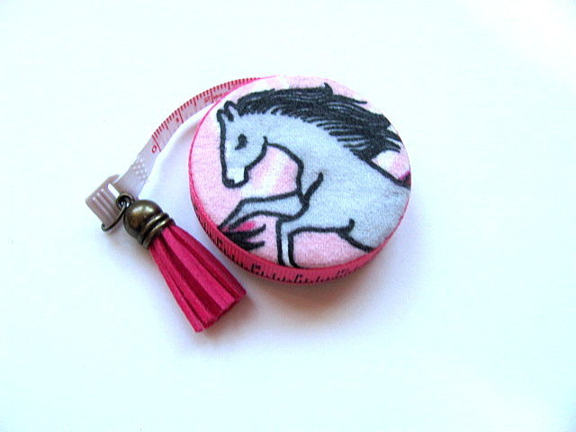 Retractable Measuring Tape Horse Lovers Fabric Tape Measure