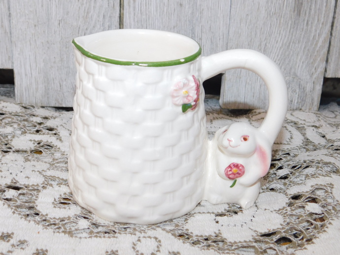 Creamer Vintage Bunny Rabbit Creamer, Vintage Table Ware, Vintage Kitchen,