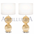 Murano glass clear and 24k gold table lamps