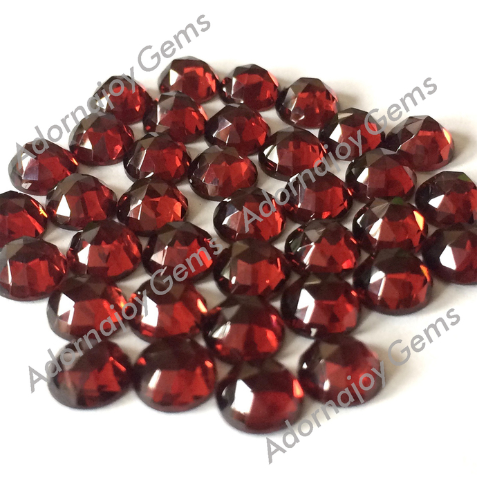 Garnet 5mm Gemstone Cabochon Rose Cut FOR FOUR