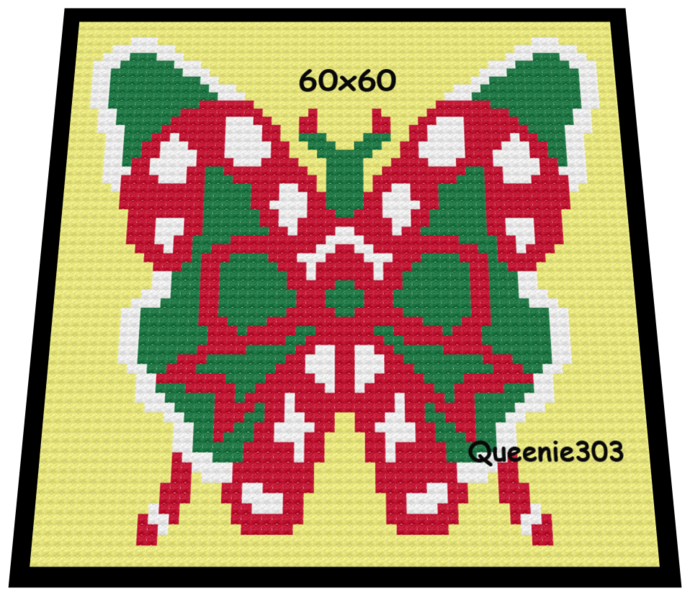 Butterfly Candy Canes 60x60