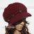 Oatmeal Newsboy Hat Crochet Slouchy Visor Hat Handmade Cap Grey Merlot Black