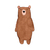"""Woodland Creatures Collection: Bear Wall Decal - 36"""" tall x 18"""" wide"""