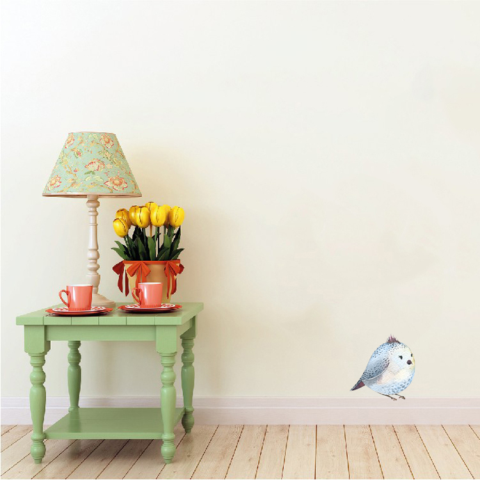 """Woodland Creatures Collection: Bird Wall Decal - 5"""" tall x 5"""" wide"""