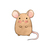 """Woodland Creatures Collection: Mouse Wall Decal - 4"""" tall x 3.5"""" wide"""