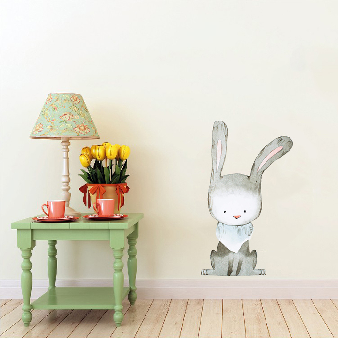 """Woodland Creatures Collection: Rabbit Wall Decal - 15"""" tall x 9"""" wide"""