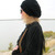 Knitted Beige Slouchy Hat Ladies Women Teens Winter Buttoned Hat Handmade Knit
