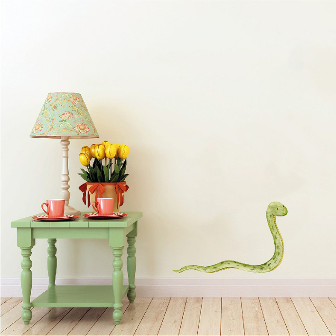 "Woodland Creatures Collection: Snake Wall Decal - 11"" tall x 18"" wide"