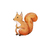 """Woodland Creatures Collection: Squirrel Wall Decal - 8"""" tall x 8"""" wide"""