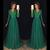 V-neck Chiffon Floor-Length Prom Dress With Applique and Beading ,Long Formal