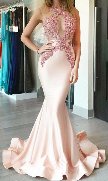 Sex Mermaid Floor-Length Prom Dress,Long Formal Dress Dance Dress