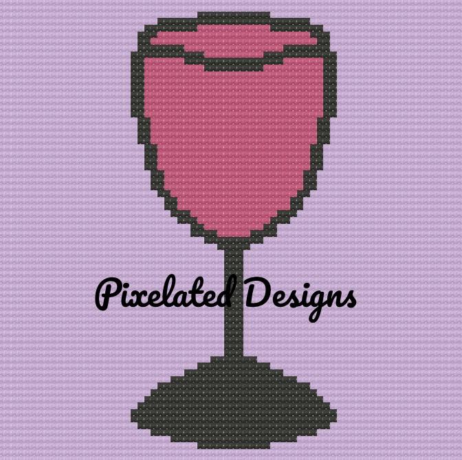 Wine Glass Pattern - SC - 70x70 - Graph w/Written - Full Version