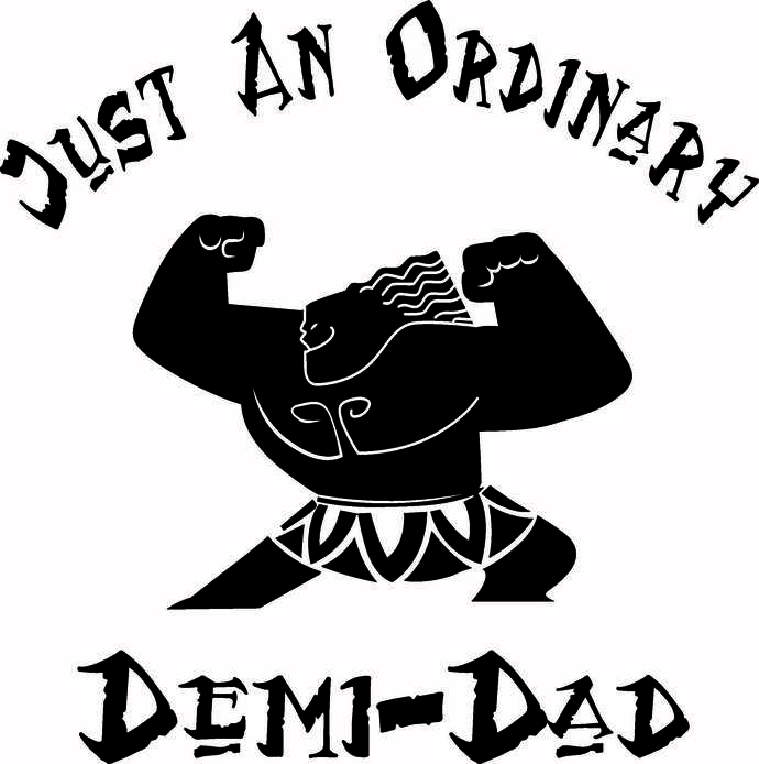 52f76729 Just an ordinary Demi-Dad, Moana, hei by Creative Creations on Zibbet