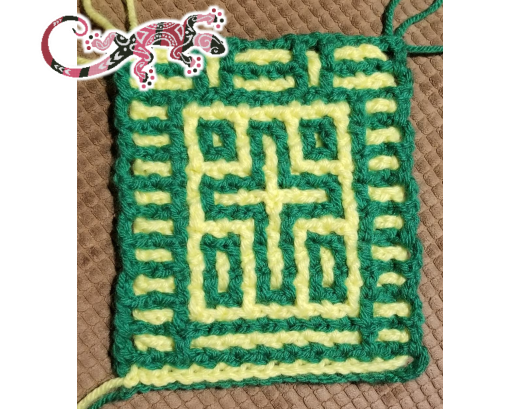 Free Mini Cross Sample for Locking Filet Crochet