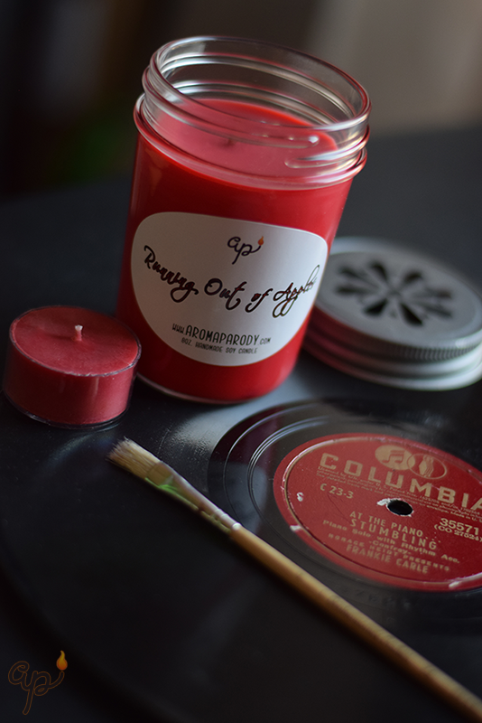 Running Out Of Apples -- 8 oz. Handmade Soy Candle