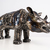 Rhino Metal - Stunning animal sculpture - unique metal art decor - home decor