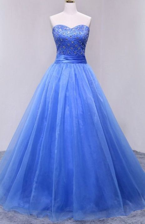 Ball Gown Sweetheart Organza evening gowns,sexy ball gowns, custom made prom,new