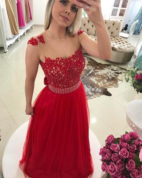 A-line Long Prom Dress Semi Formal Dresses Wedding Party Dress