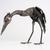 Crane Metal - Stunning animal sculpture - unique metal art decor - home decor