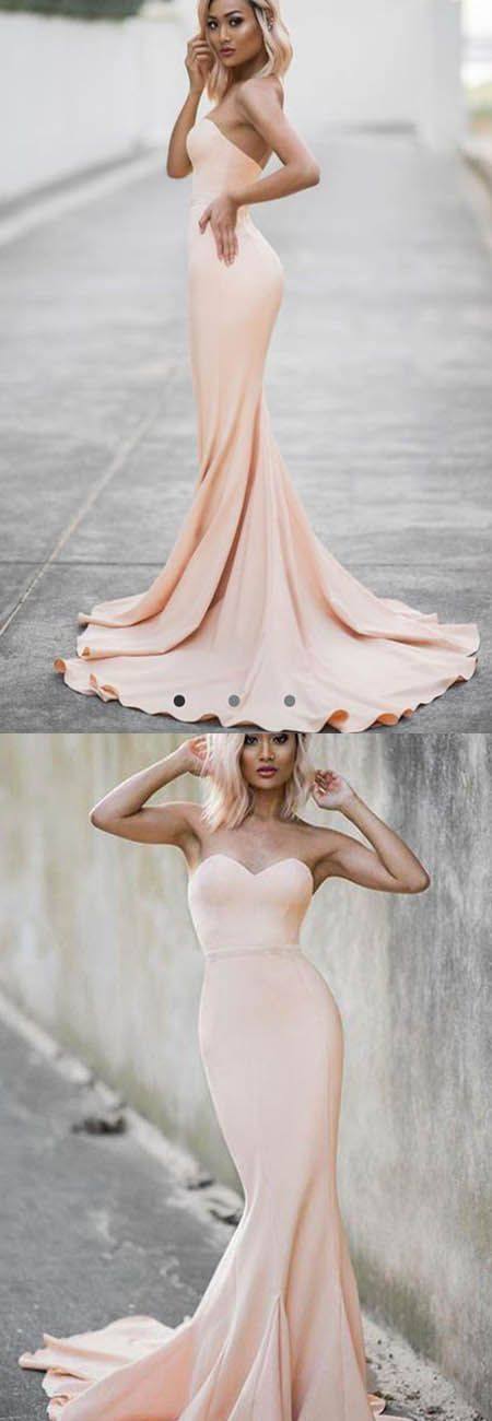 Custom Made Mermaid Evening Dress, Sexy Long Prom Dress, Champagne Party Gown