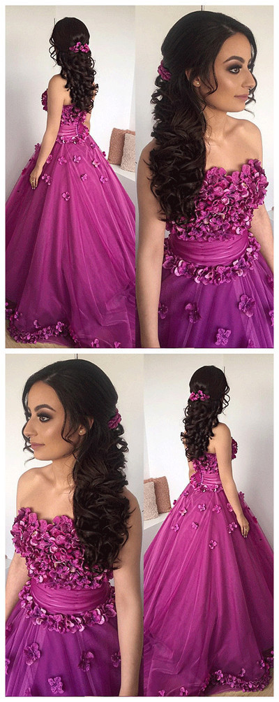 bb27893616 New Styles Unique ball gown tulle 3D flowers by DestinyDress on Zibbet