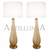 Murano glass amber table lamps