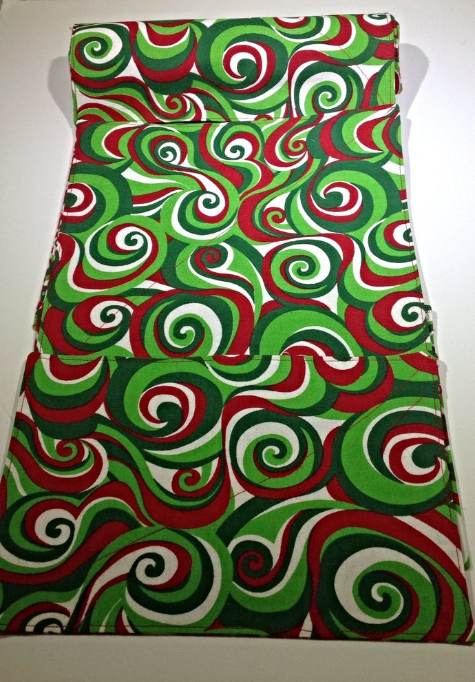Reusable UnPaper Towels - set of 9 and 2 Sponges-Christmas Swirls and Stars