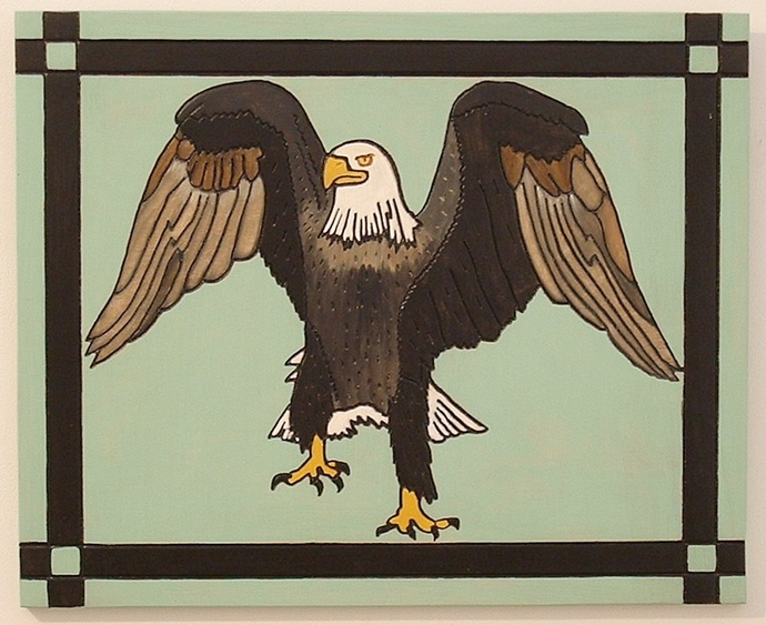 Patriotic, Eagle,  Wood Wall Art, Hand Painted, Home