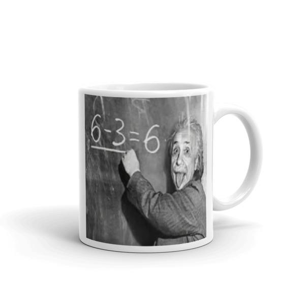 ALBERT EINSTEIN, SCIENTIST,CLOWN, GIFT,Mug