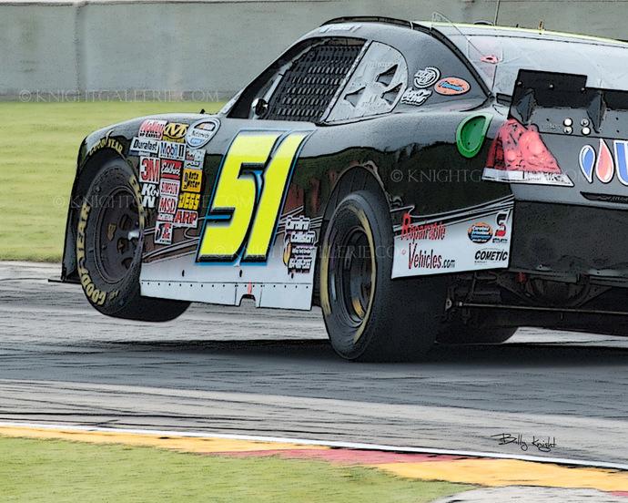 NASCAR Image: Hard Left Turn!