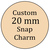 Custom Made Snap Charms, Snap Button Charms, Fits standard Ginger snaps, Noosa,